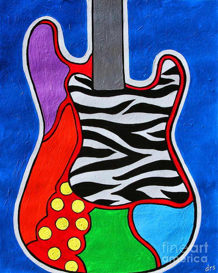Electric Guitar Painting - Its Electric Acrylic By Diana Sainz by Diana Sainz