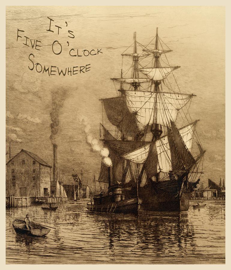It's 5 O'clock Somewhere Photograph - Its Five Oclock Somewhere Schooner by John Stephens