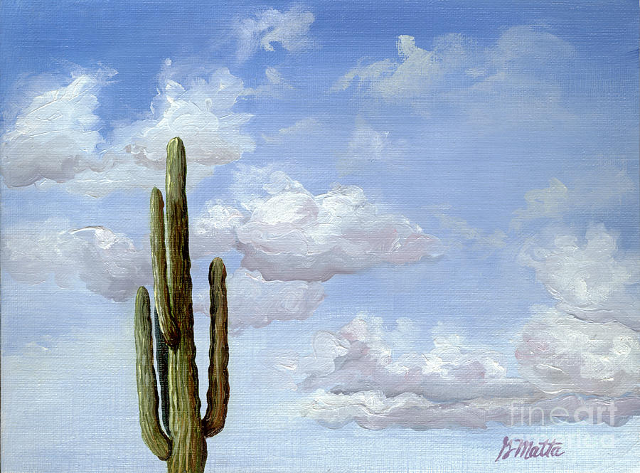 Landscape Painting - Its Lonely At The Top by Gretchen Matta