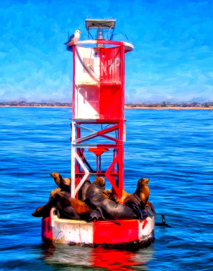 Newport Harbor Painting - Its Lonely At The Top by Michael Pickett
