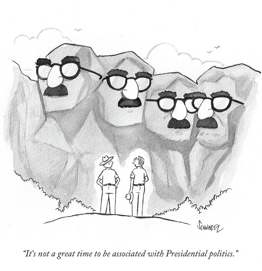Cartoon Drawing - Its Not A Great Time To Be Associated by Benjamin Schwartz
