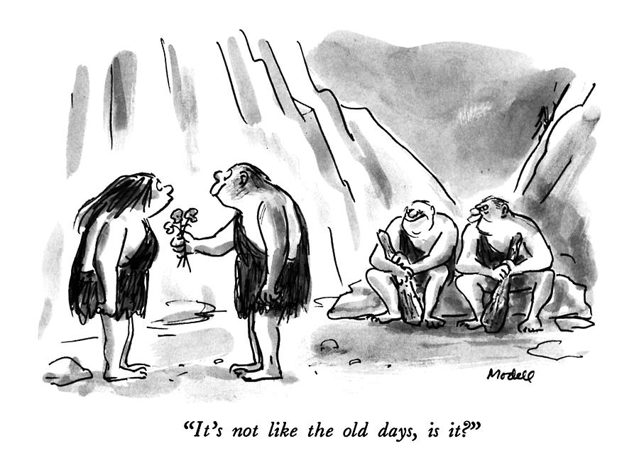 Its Not Like The Old Days Drawing by Frank Modell