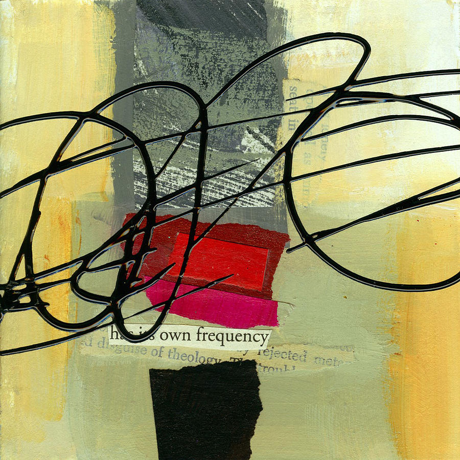 4x4 Painting - Its Own Frequency by Jane Davies