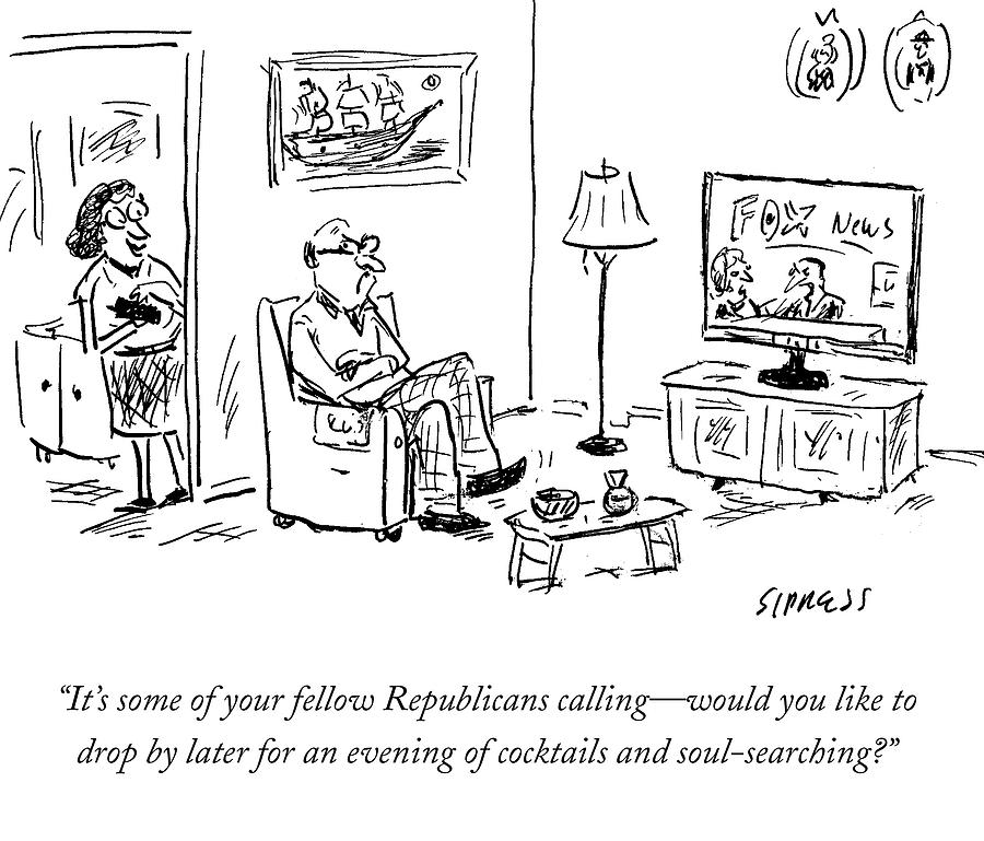 Its Some Of Your Fellow Republicans Calling Drawing by David Sipress