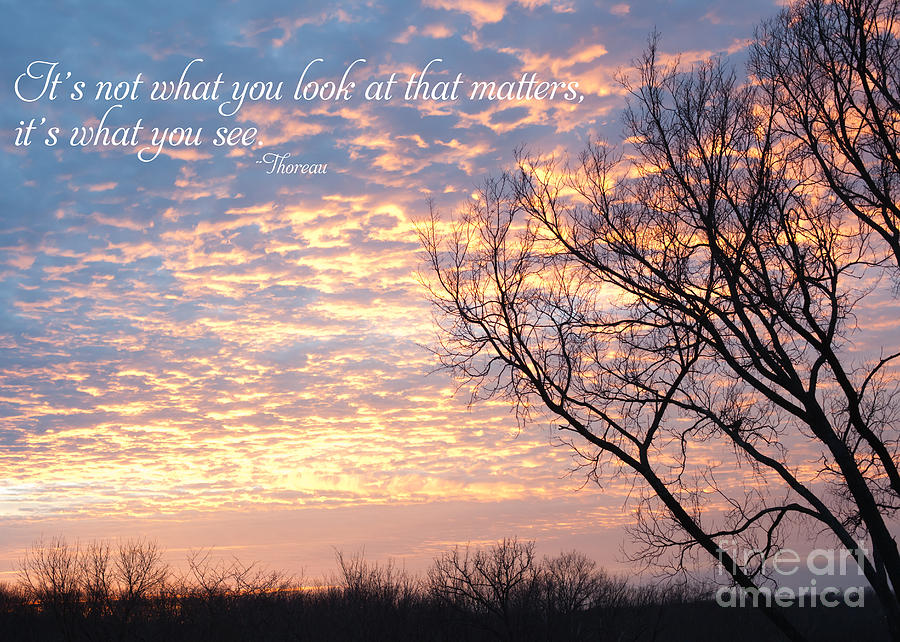 Quote Photograph - Its What You See by Kay Pickens