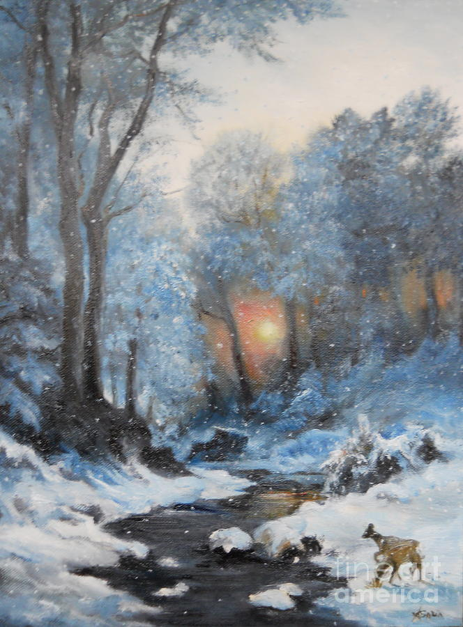 Winter Painting - Its Winter by Sorin Apostolescu