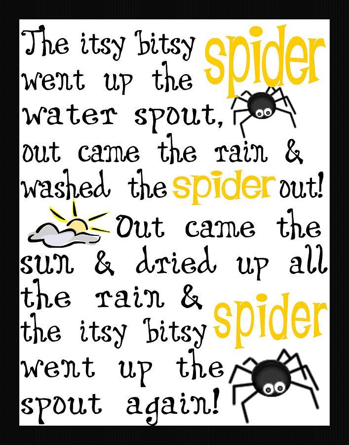 Itsy Bitsy Spider Digital Art - Itsy Bitsy Spider by Jaime Friedman