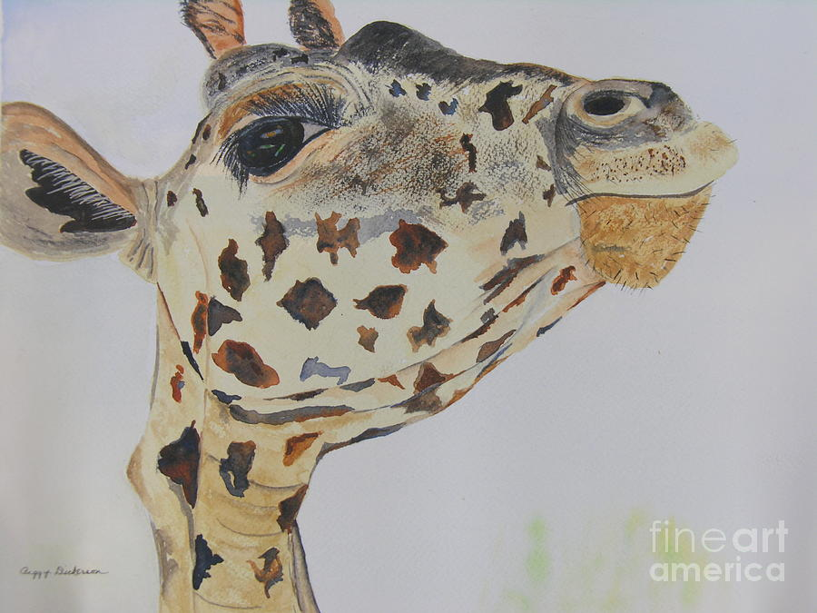 Africa Painting - Ive Got An Eye On You by Peggy Dickerson