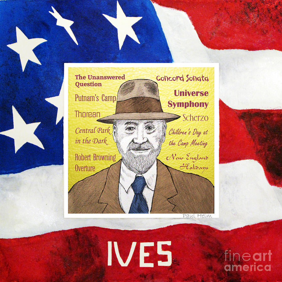 Ives Drawing - Ives by Paul Helm