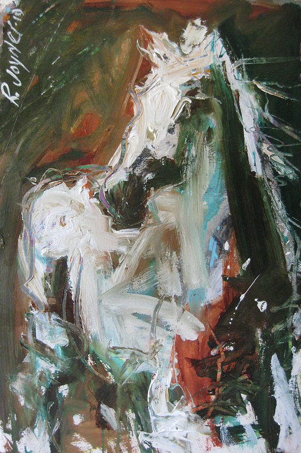 Original Horse Painting For Sale Painting - Ivory by Robert Joyner