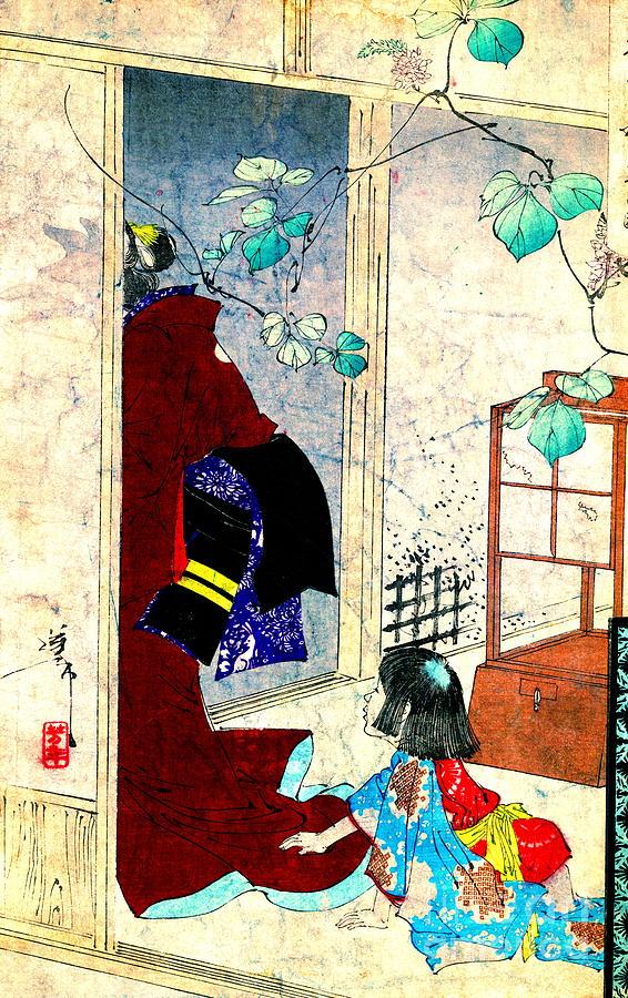 Ukiyo-e Photograph - Ivy 1880 by Padre Art