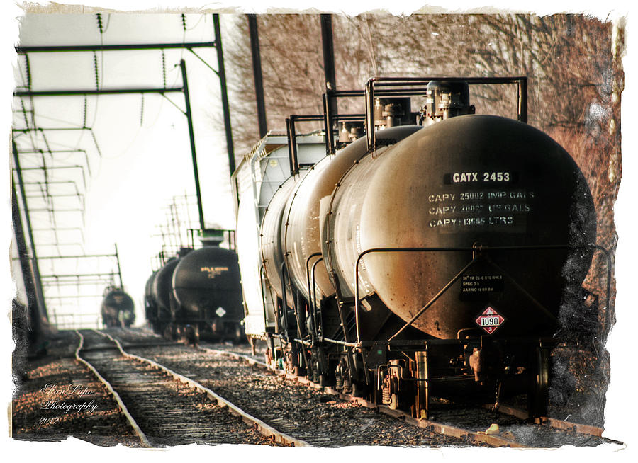 Tank Cars Photograph - Ivyland Rail Yard by Stanley Lupo