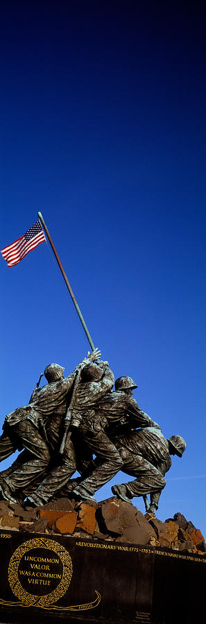 Color Image Photograph - Iwo Jima Memorial At Arlington National by Panoramic Images