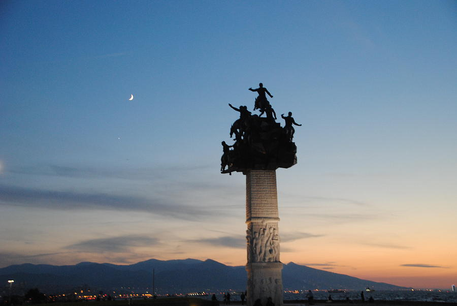 Izmir Photograph - Izmir War Monument On Kordon by Jacqueline M Lewis