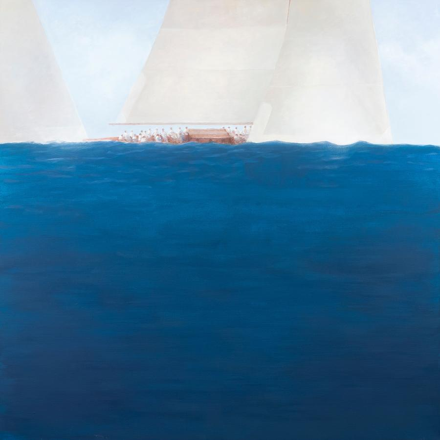 Boats Painting - J Class Racing The Solent 2012  by Lincoln Seligman