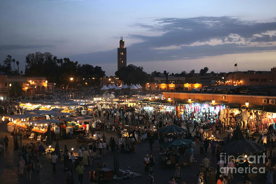 Place Photograph - J Ma Fna Place Marrakesh by Sophie Vigneault