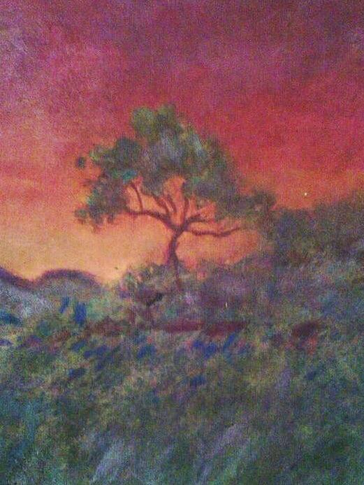 Landscape Painting - Jacaranda Tree by Joy Gilley
