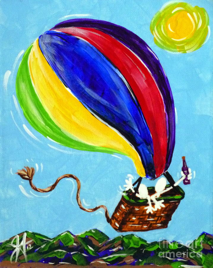 Jack And Charlie Fly Away Painting
