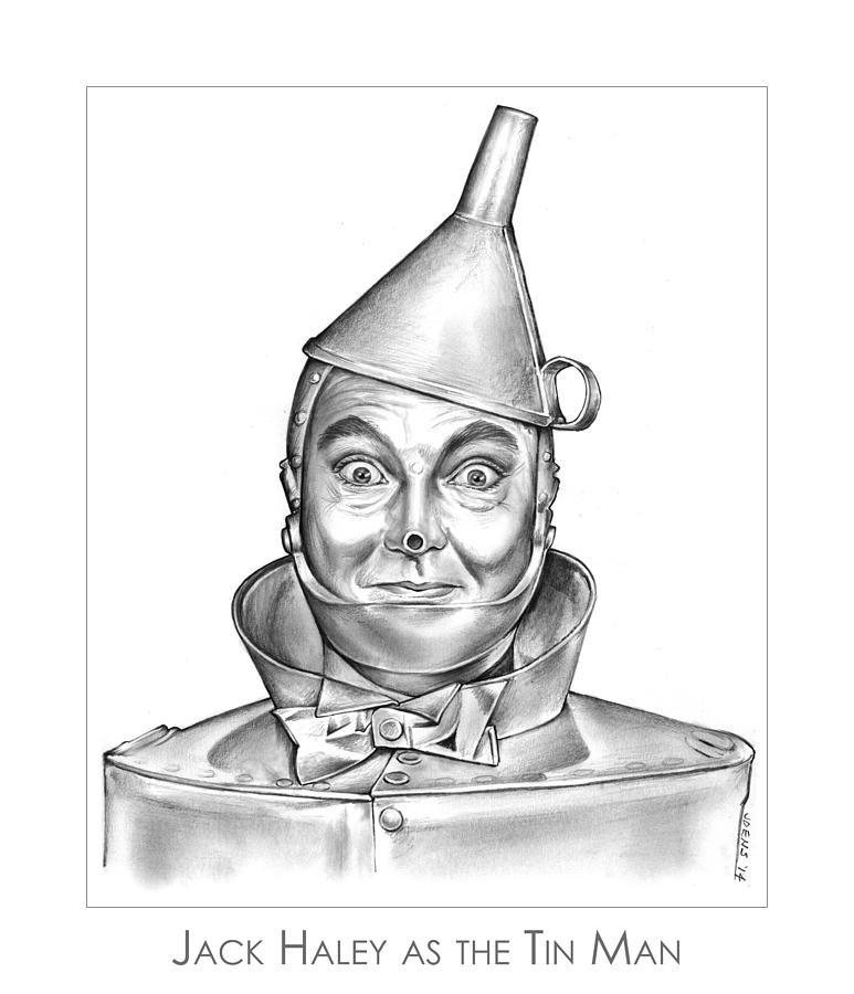 Jack Haley As The Tin Man Drawing
