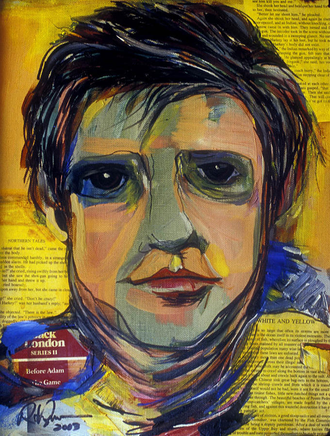 Portraits Painting - Jack London Literary Hero by Robert R Ferguson