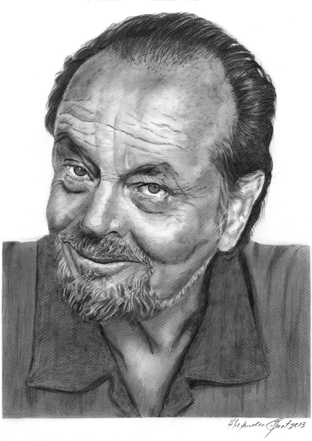 Jack nicholson drawing jack nicholson pencil by alexander gilbert