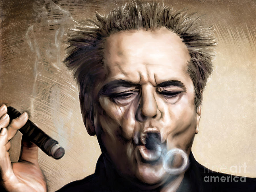 Actor Painting - Jack Nicholson by Andrzej Szczerski