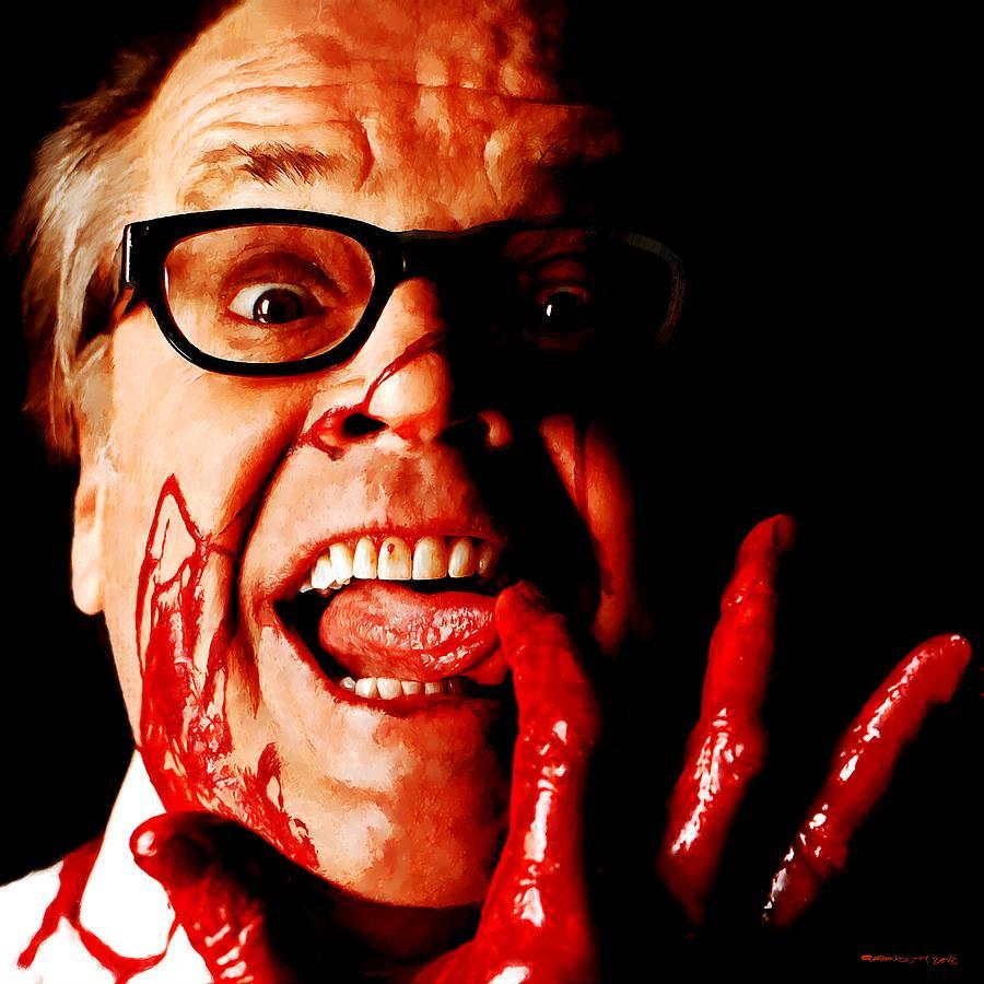 Jack Nicholson Digital Art - Jack Nicholson painted from photo of Matthew Rolston by Gabriel T Toro