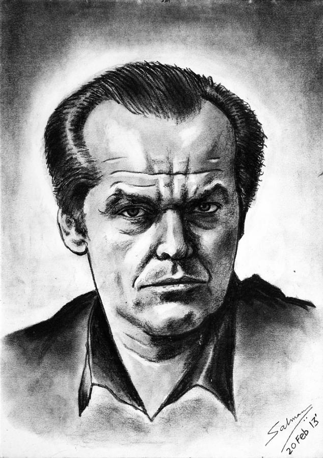 Jack Nicholson Drawing by Salman Ravish