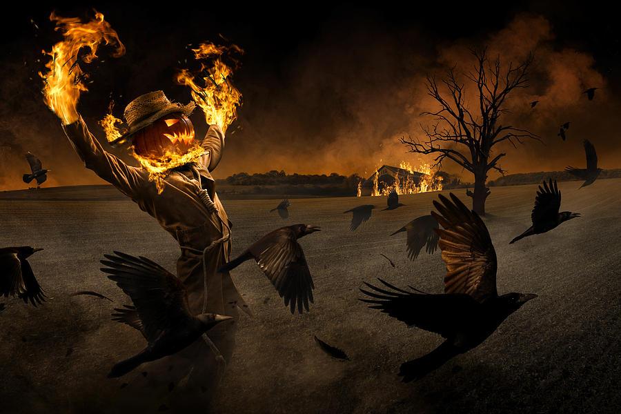 Halloween Photograph - Jack-o\'-scarecrow by Christophe Kiciak