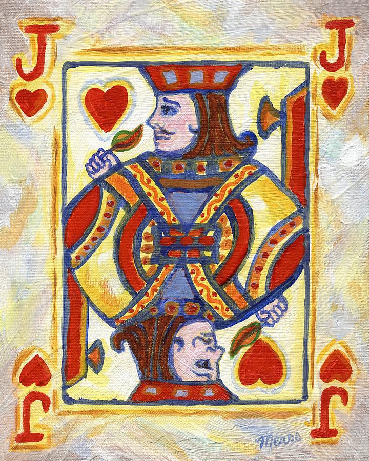 Card Painting - Jack Of Hearts by Linda Mears