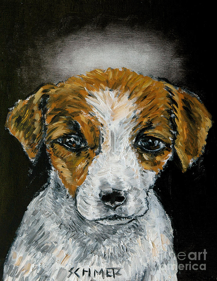 Jack Russell Painting - Jack Russell Terrier Angel by Jay  Schmetz