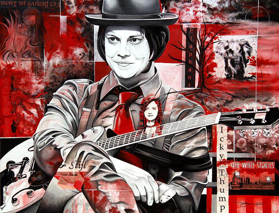 Jack White Painting - Jack White by Joshua Morton