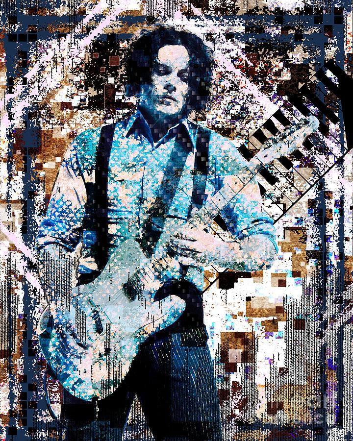 Mixed Media Mixed Media - Jack White - Original Painting Art Print by Ryan Rock Artist