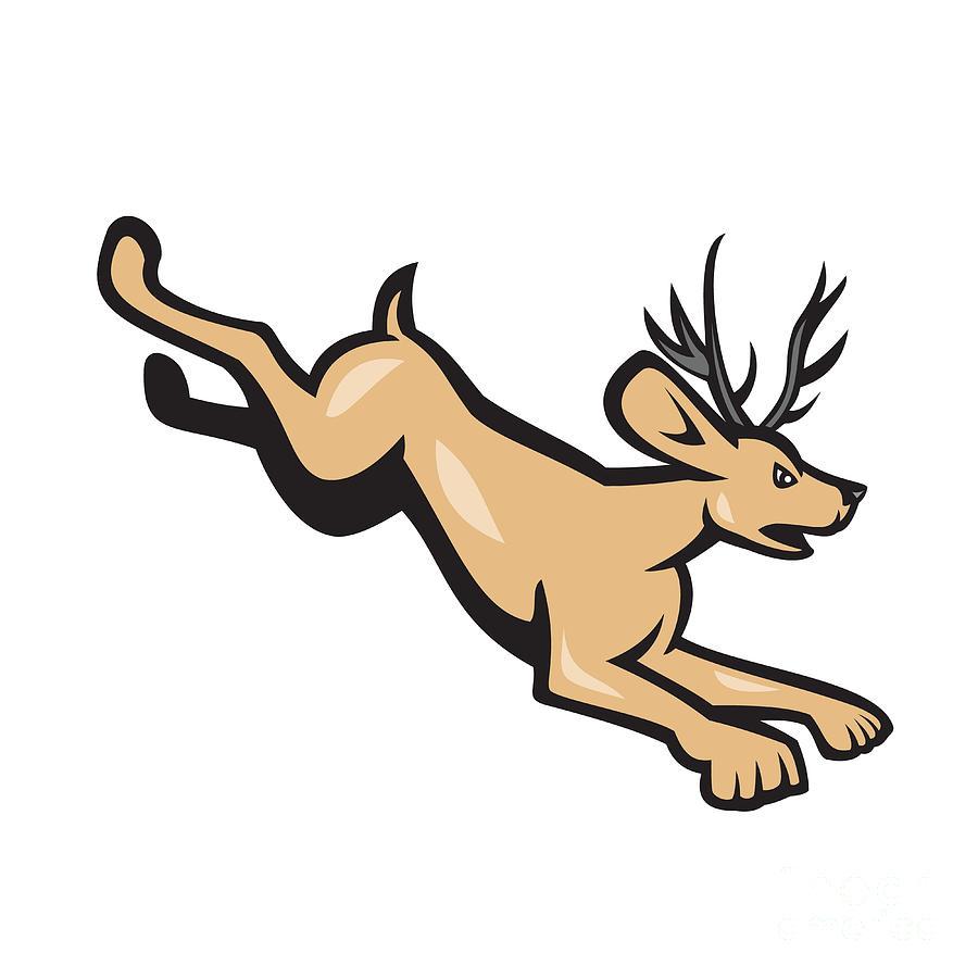 Deer Jumping Art | Fine Art America