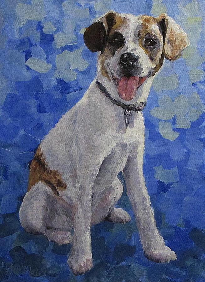 Dog Painting - Jackaroo - A Pet Portrait by Karen Ilari