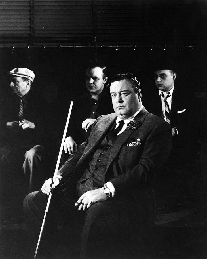 The Hustler Photograph - Jackie Gleason In The Hustler by Silver Screen