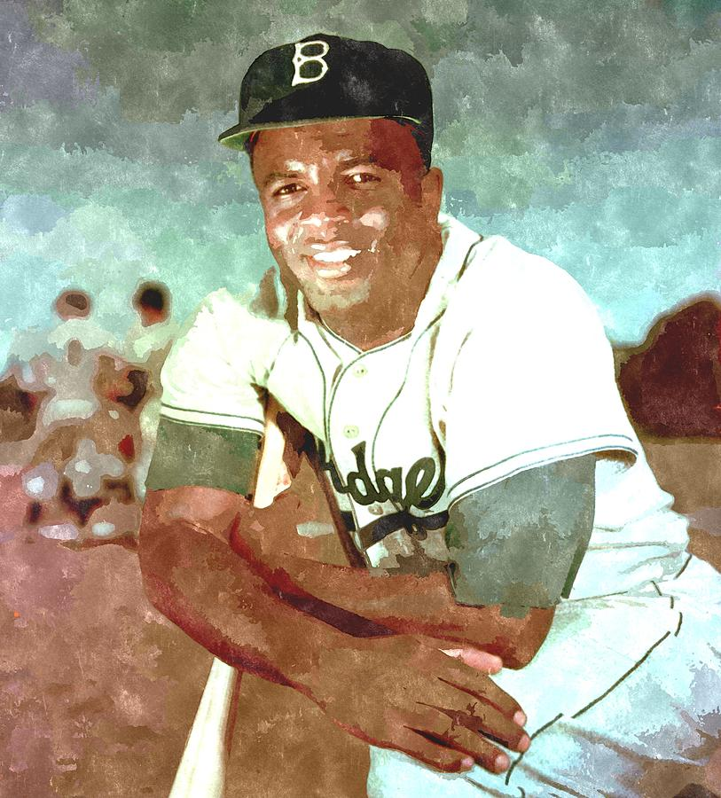 Jackie Painting - Jackie Robinson by Gianfranco Weiss