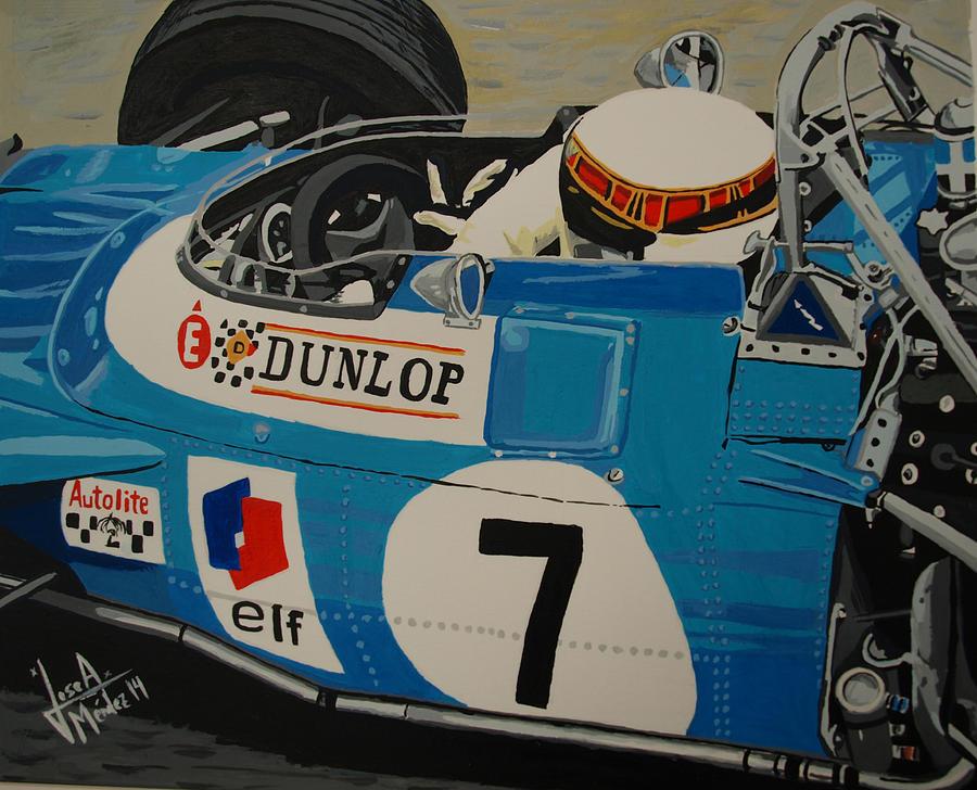Jackie Stewart Painting - Jackie Stewart by Jose Mendez