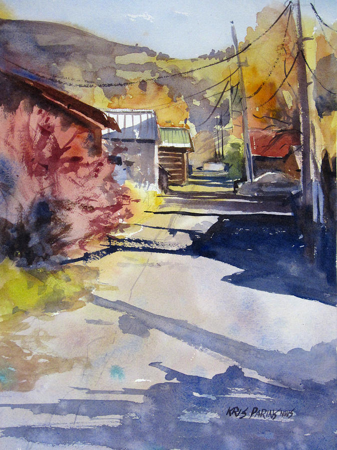 Watercolor Painting - Jackson Alley by Kris Parins