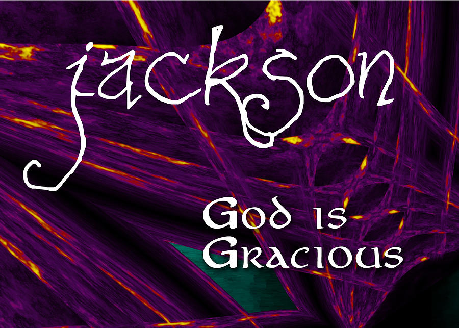 Fire Painting - Jackson - God Is Gracious by Christopher Gaston