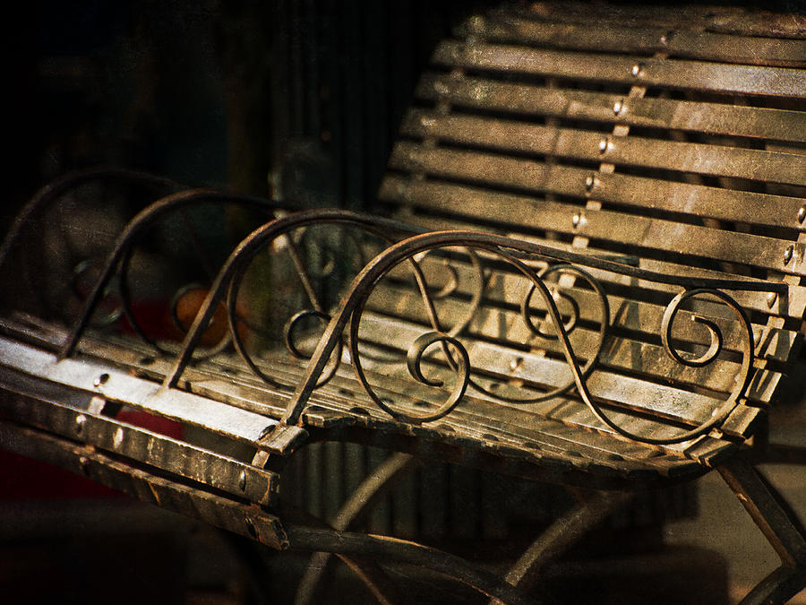 Bench Photograph - Jackson Square Bench by Brenda Bryant