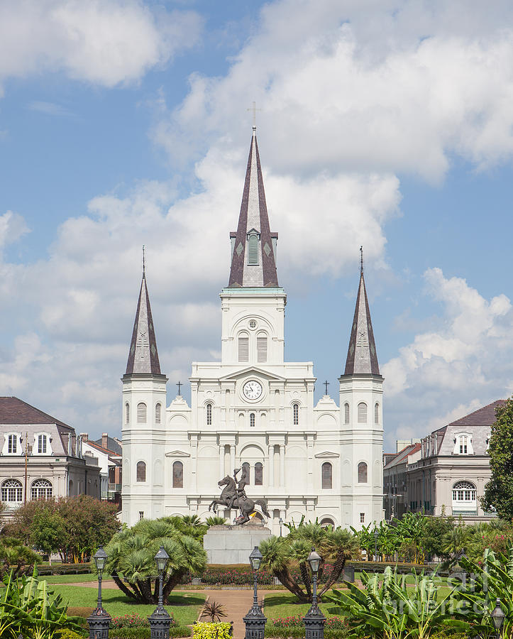 Jackson Square Photograph - Jackson Square Cathedral by Kay Pickens
