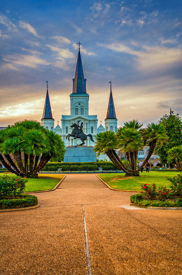 Nola Photograph - Jackson Square Cathedral by Steve Harrington