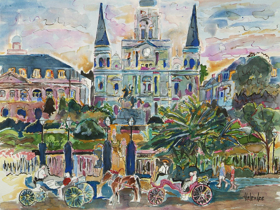 American Impressionist Painting - Jackson Square by Helen Lee
