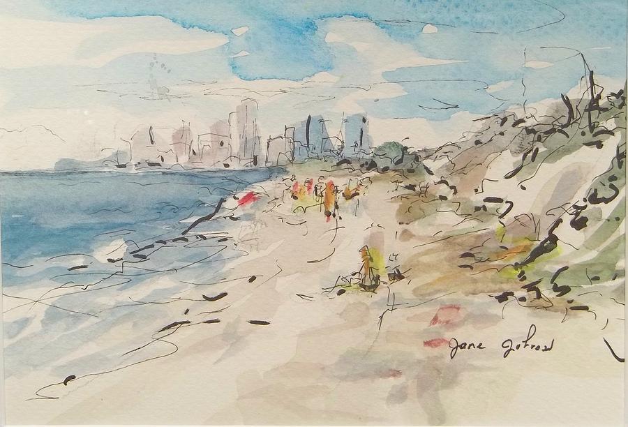Summer Painting - Jacksonville Beach by Jane Johnson
