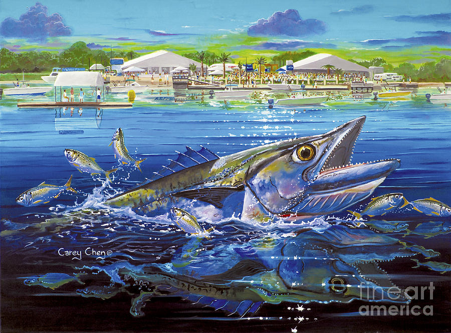 Jacksonville Kingfish Off0088 Painting By Carey Chen