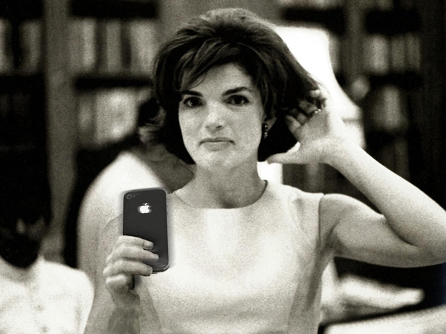 Jacqueline Lee Bouvier Kennedy Onassis Photograph - Jacky Kennedy Takes A Selfie by Tony Rubino