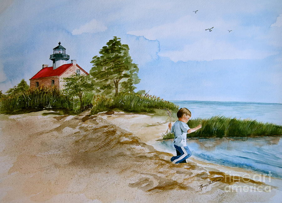 Delaware Bay Painting - Jacob At East Point  by Nancy Patterson