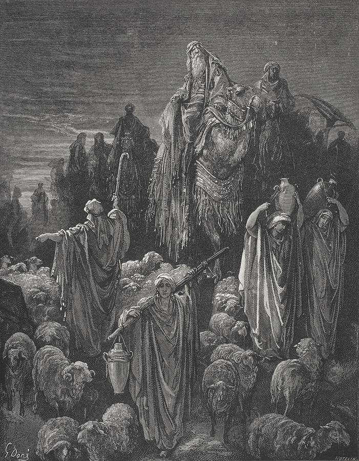 Famine Painting - Jacob Goeth Into Egypt by Gustave Dore