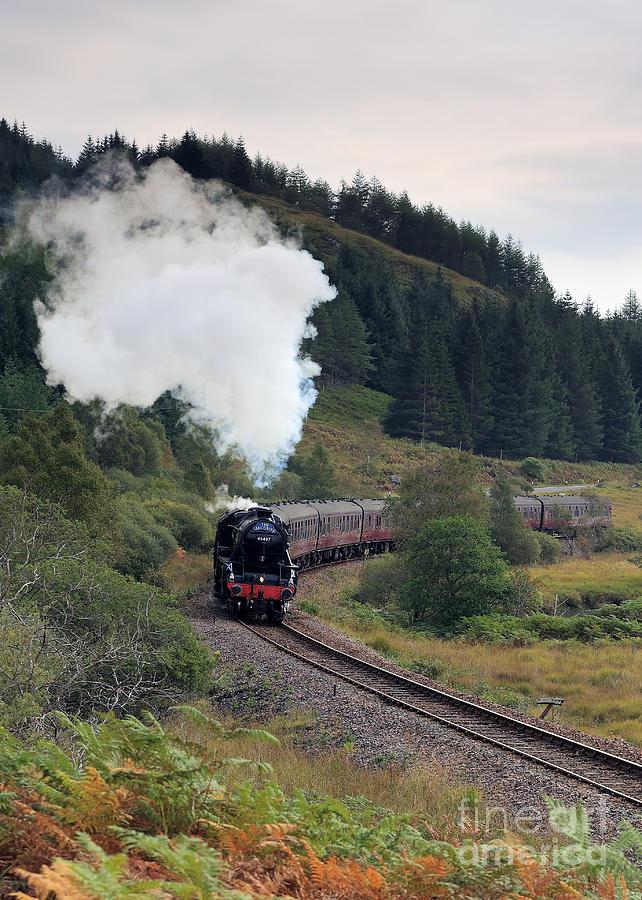 Steam Engine Photograph - Jacobite Steam Train by Maria Gaellman
